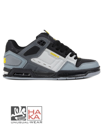 sneakers osiris peril charcoal black yellow haka shop