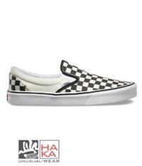 Vans Classic Navy Slip On Checkerboard haka shop