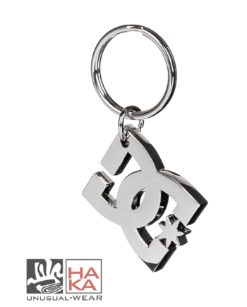 Dc Shoes Star Keychain Silver haka shop
