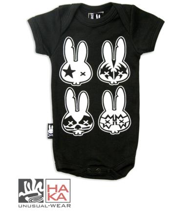 Six Bunnies ROCK BUNNIES Black haka shop