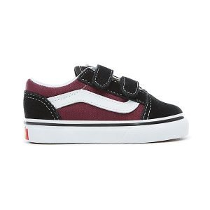 Vans Pop Old Skool V Black Og Burgundy haka shop