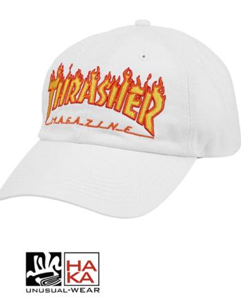 THRASHER-CAP-FLAME-OLD-TIMER-WHITE haka shop