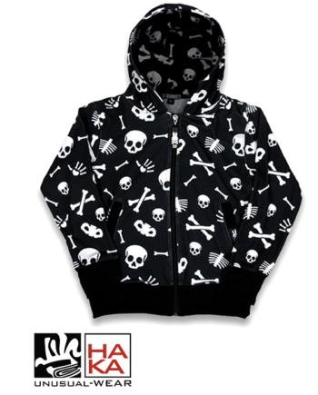 Six Bunnies Skulls Black haka shop