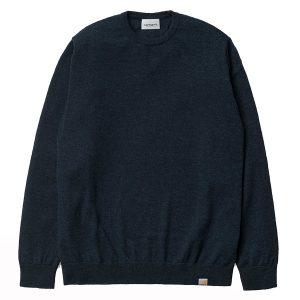 Carhartt Playoff Sweater Dark Navy Heather haka shop