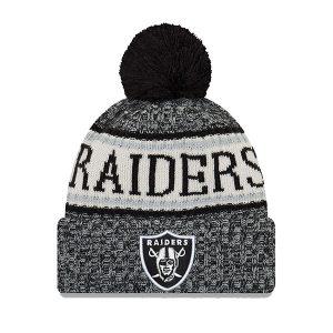 New Era Sideline Bobble Oakland Raiders Grey Melange haka shop