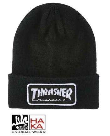 Thrasher Logo Patch Black haka shop
