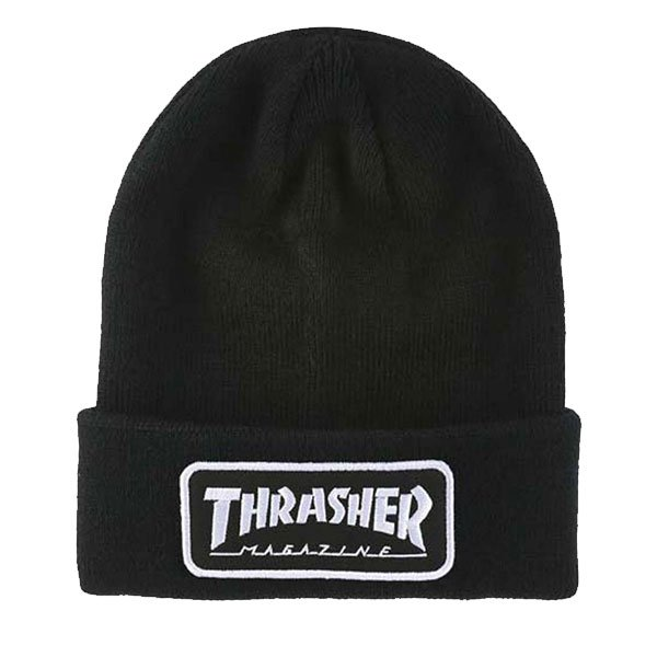 Thrasher Logo Patch Black haka shop