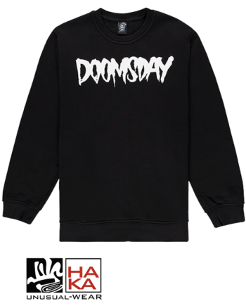Doomsday Society Logo Crewneck Black haka shop
