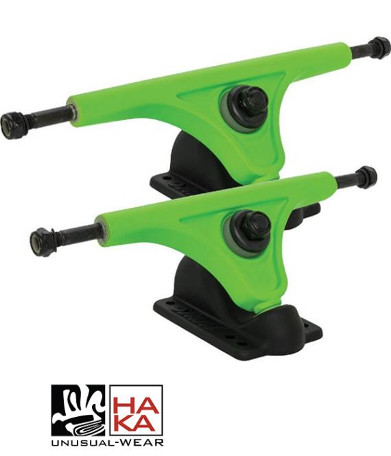 Slant Trucks Magnesium Reverse Kingpin Black Fluorescent Green haka shop