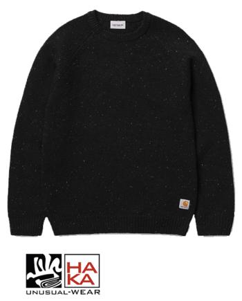 Carhartt Anglistic Sweater Black Heather haka shop