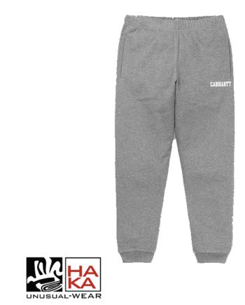 Carhartt College Sweat Pant Dark Grey Heather White haka shop