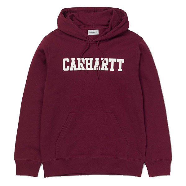 Carhartt Hooded College Sweat Mulberry White haka shop