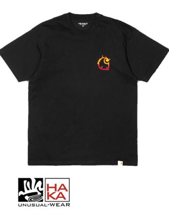 Carhartt S S Burning C Black haka shop