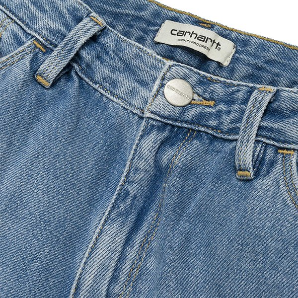 Carhartt W' Domino Ankle Pant Blue Fight Light Stone Washed haka shop