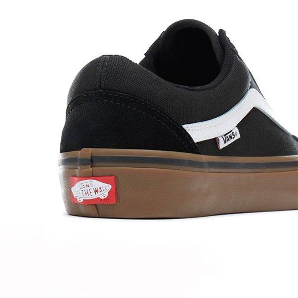 Vans Old Skool Pro Black White Gum haka shop