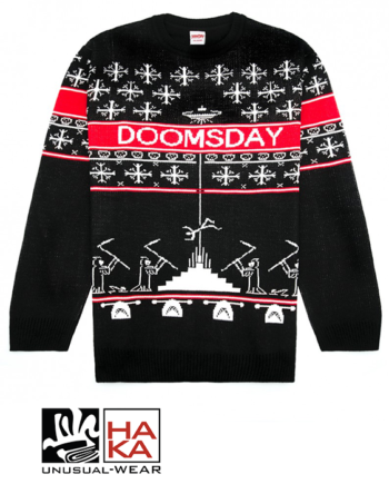 Doomsday society Kidnapping Knit Black haka shop