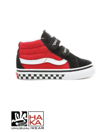 Vans Sk8 Mid Reissue V Logo Pop Black True White haka shop