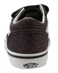 Vans TD Old Skool V (Glitter Stars) Black True White haka shop