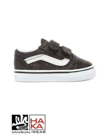 Vans TD Old Skool V (Glitter Stars) Black True White haka shop