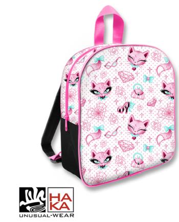 Six Bunnies Miss Kitty Pink backpack haka shop