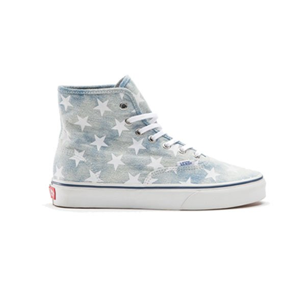 vans Authentic Hi Washed Denim Blue Stars haka shop