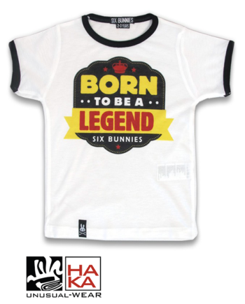 Six Bunnies Born To Be Legend White haka shop