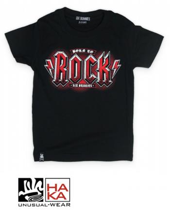 Six Bunnies Born To Rock Black haka shop