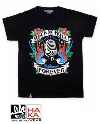 Six Bunnies Rock'n'Roll Forever Black haka shop