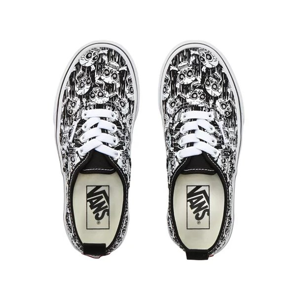 Vans Authentic Elastic Glow Skulls Black True White haka shop