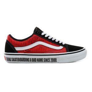 Vans Old Skool Pro (Baker) Black White Red haka shop