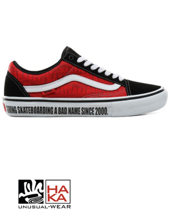 Vans Old Skool Pro Baker Black White Red haka shop
