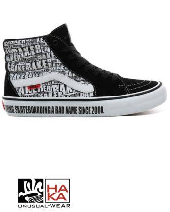 Vans Sk8-Hi Pro Baker Black White haka shop