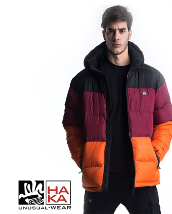 Dolly Noire Diablo Padded haka shop Jacket Black Bordeaux Fluo Orange haka shop