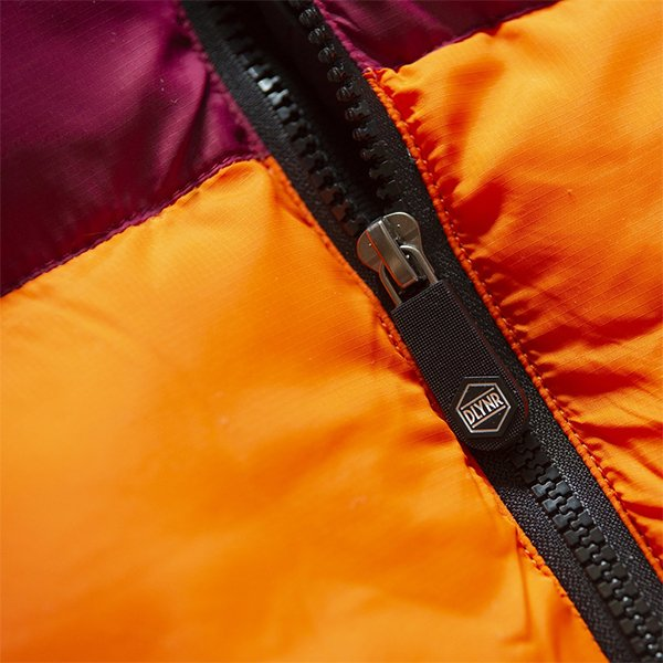 Giubbotto Dolly Noire Diablo Padded Jacket Black Bordeaux Fluo Orange haka shop