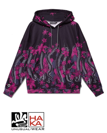 Octopus Sweatshirt Lily Black haka shop
