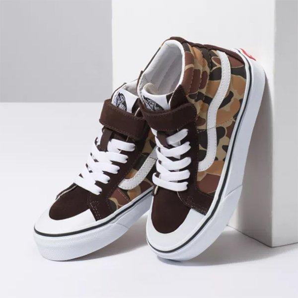 Vans Sk8 Hi Reissue Vintage Camo Chocolate torte True White haka shop