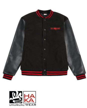 Doomsday Society Scars Varsity Jacket Black haka shop