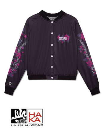 Octopus Crop Lily Logo Varsity Black haka shop