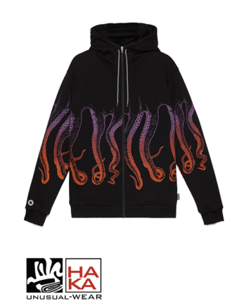 Octopus Gradient Zip Sunrise Black haka shop