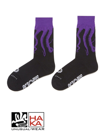 Octopus Original Socks Black Purple haka shop