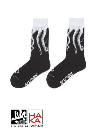 Octopus Original Socks Black White haka shop