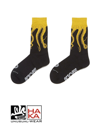 Octopus Original Socks Black Yellow haka shop