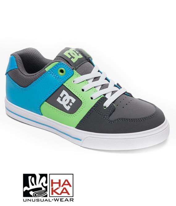 Dc Shoes Pure Elastic Grey Green Blue haka shop
