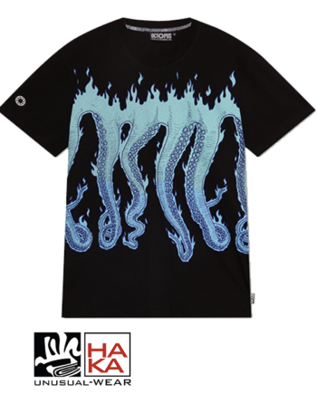 Octopus Flame Black Blue haka shop