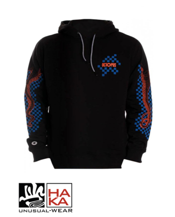 Octopus Checkered Logo Black Blue haka shop