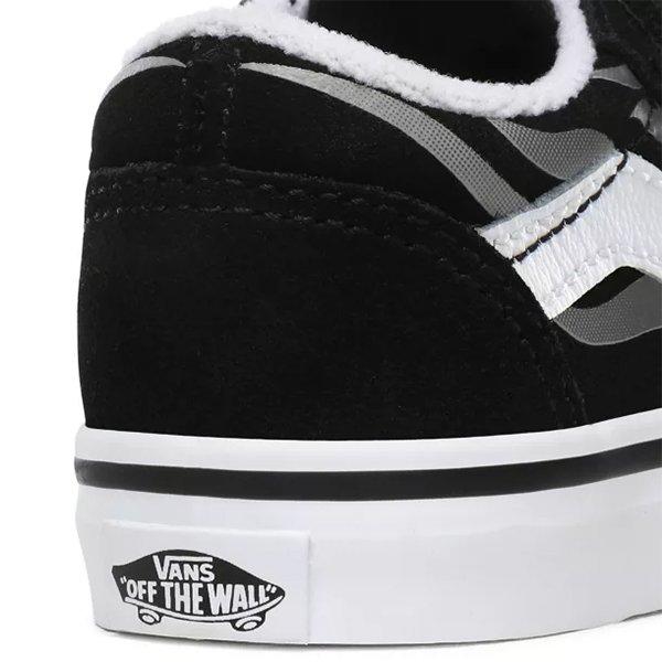 Vans Old Skool V (Suede Flame) Black True White haka shop