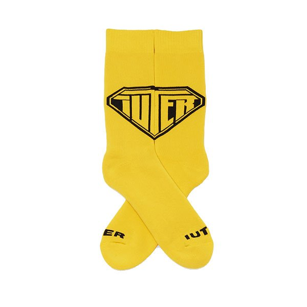 Iuter Logo Socks Yellow haka shop