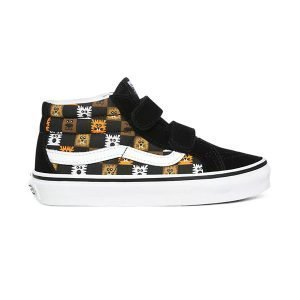 Vans Sk8-Mid Reissue V ( Animal Checkerboard ) Black True White haka shop