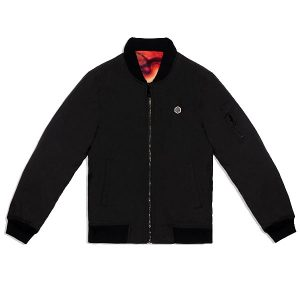 Dolly Noire Arcade Reversible Bomber Black Red haka shop