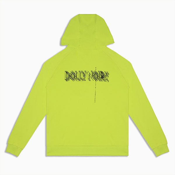 Dolly Noire Logo Wireframe Hoodie Acid Green haka shop